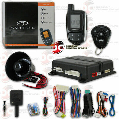 Avital 5305L 2-Way Paging Car Alarm System With Keyless Entry & Remote Start