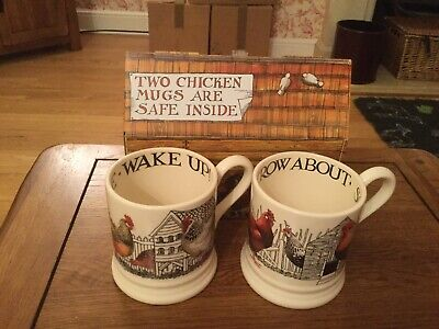 Emma Bridgewater - Hen And Toast Boxed Set 1/2 Pint Mugs- BRAND NEW