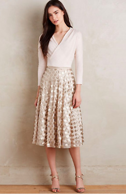 0906d8378d 43. NWT Anthropologie Eva Franco Zelda Metallic Skirt Black Tulle ...