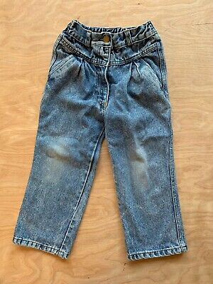 Vintage 80s 90s Stone Washed Jeans Bubble Pleated Blues In Motion Girls 4T
