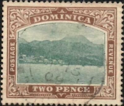 Dominica 1907  Edward VII   2d Green & Brown   SG.39  Used