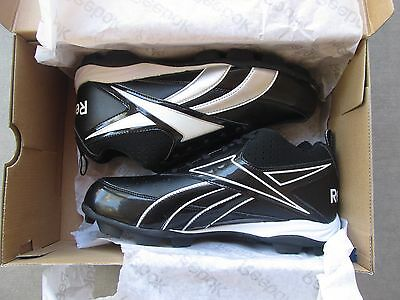 b8a3405d5 Reebok All Out Speed Mid Mrt Football Molded Cleats Black Men s Size 12