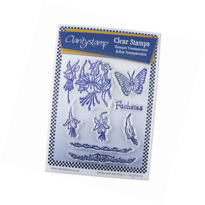 Jayne's Fuchsias - Unmounted Clear A5 Stamp Set