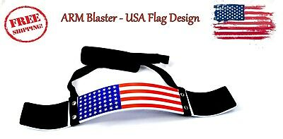 ARD CHAMPS Heavy Duty Arm Blaster Body Building Bomber Bicep Curl Triceps - FLAG