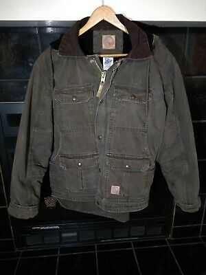 59f4064f6 Berne Mens Olive Duck 100% Cotton Contractor Coat. Size medium regular (40-