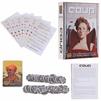 Coup Card Game Full English Version Basic Game Board Game Family Party Game NEW