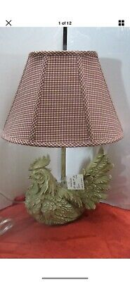 Rooster ~ Hen ~ Chicken Lamp New w/Tags Americana Country Farmhouse Folk Art