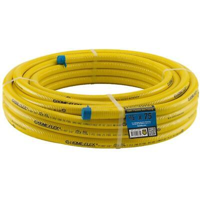 Home Flex Tubing Corrugated Gas Supply Stainless Steel CSST x 75 ft. 3/4 in.