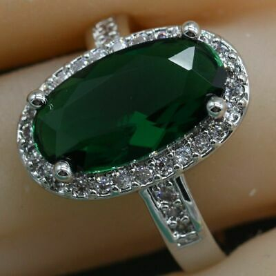 Sterling Silver925 Semi-precious Stone Engagement Ring For Women Fashion Jewelry