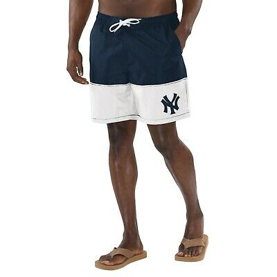 372d523a5b NEW YORK YANKEES G-III Sports Anchor Volley Swim Shorts - Navy/White ...