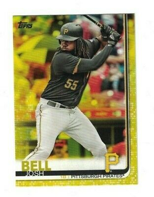 Josh Bell 2019 Topps Series 1 YELLOW PARALLEL Card #208 PIRATES WALGREENS
