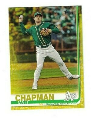 Matt Chapman 2019 Topps Series 1 YELLOW PARALLEL Card #166 ATHLETICS WALGREENS