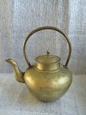 Beautiful Original Antique Chinese High Quality Solid Heavy Brass Teapot