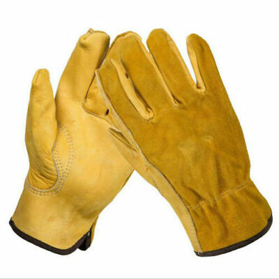 Safety Work Leather Gloves Mechanics Construction Driver Rigger General Purpose