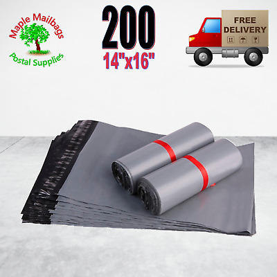 14 x 16 350x400mm (Large Letter Size) Self Seal Grey Mailing Bags Pack Size 200