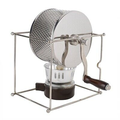 1Pc Mini Manual Coffee Bean Roasting Machine Stainless Steel Rollers with Handle