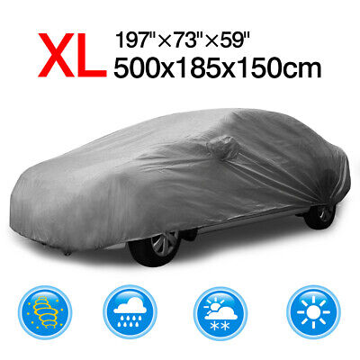 197'' Polyester Waterproof Full Sedan Car Cover UV Dust Rain Resistant Protector