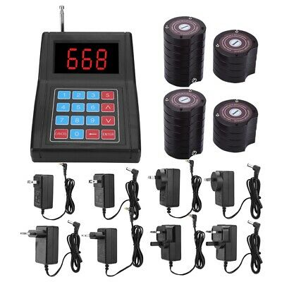 SU-668 Restaurant Equipment Wireless Paging Queuing System 20/30 Coaster Pagers