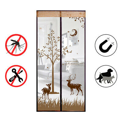 Insect Screen Curtain Doors Magnet Magnetic Curtain Net Fly Screen Balcony Door