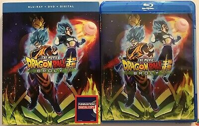 Dragon Ball Super Broly The Movie Blu Ray Dvd + Slipcover Sleeve Free Shipping