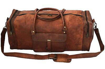 24 Inch Square Duffel Travel Duffle Gym Sports Overnight Weekend Leather Bag