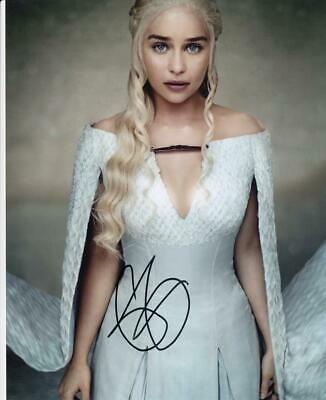EMILIA CLARKE Signed 8x10 Photo COA (Daenerys Targaryen, Game of Thrones) #2