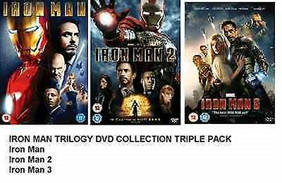 Iron Man Trilogy - Triple Pack Part 1 2 3 Brand New And Sealed Uk Region 2 Dvd