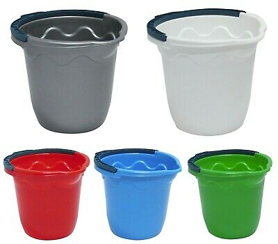 Heavy Duty Light Weight Water Bucket with Carry Handle Cleaning Car Wash Washing
