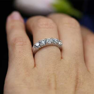 2.00 Ct Round Cut DVVS1 Diamond Halo Cluster Engagement Ring 18K White Gold Fn