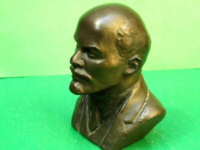 USSR Soviet VLADIMIR LENIN Table Metal Sculpture (Bust), Author's Work.