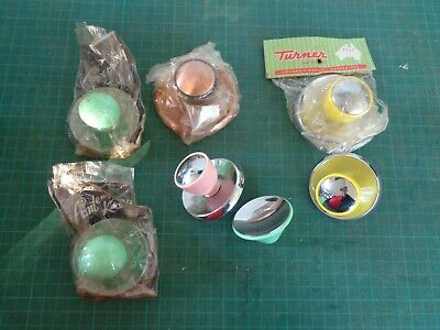 Vintage retro knobs x7 , for kitchen cabinet or drawers MIXED COLOURS, STYLES