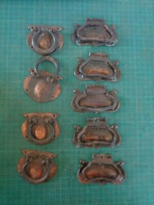 Vintage retro door handles for cabinet or drawers, COPPER COLOURED X9