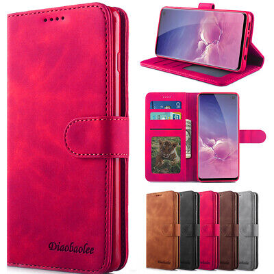 For Samsung Galaxy S10+ S9 S8 Flip Card Wallet Leather Stand Phone Case Cover
