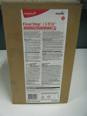 Diversey J-512 Sanitizer Final Step For Food Service 9.46L / 2.5 Gal Envirobox