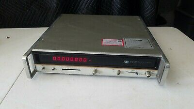 Hewlett Packard HP 5340A Frequency Counter Power Tested Working Option H37 - WHB