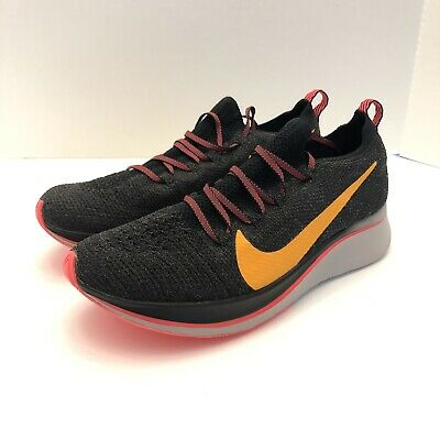 meet 92ee4 5253c Nike Zoom Fly Flyknit Run Running Shoes Black Womens Size 7.5 AR4562-068 New