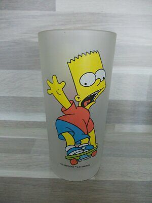 "Vintage huge collection glass 'Bart on skateboard !' - ""The Simpsons Bart "" 1998"