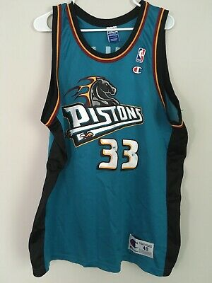 best sneakers 06f4a 997f4 VINTAGE CHAMPION MEN'S NBA Detroit Pistons Grant Hill Teal ...