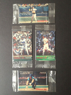 MLB 1994 Ameritech Robin Yount Phone Cards SGA Retirement Weekend 5/27-29, 1994