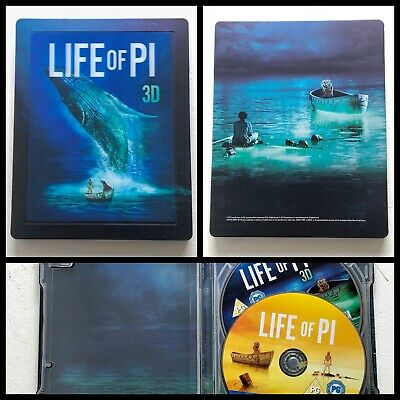 Life of Pi 2012 Blu-ray 3D + 2D Steelbook Limited Edition UK - L'Odyssée de Pi