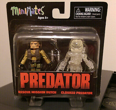 MISB NEW Rescue Mission Dutch /& Cloaked Predator Predator Minimates Series 2