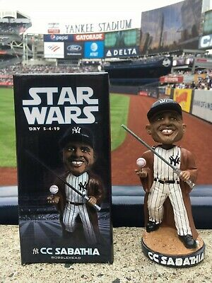 CC SABATHIA 2019 New York Yankees STAR WARS Bobblehead SGA Jedi NY Stadium Bronx