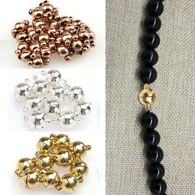 1 Set Clear Rhinestone Bowknot Magnetic Clasps Findings Jewelry Making 27x21mm