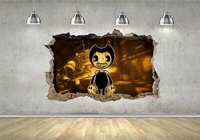Bendy and the ink machine Hole in the Wall 3D Effect Wall Sticker Wall Decals