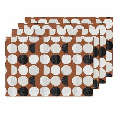 Cloth Placemats Moon Abstract Moon Phase Geometric Circles Phase Cycle Set of 4