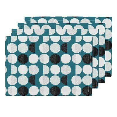 Cloth Placemats Moon Abstract Moon Phase Geometric Circles Phases Sky Set of 4