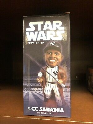 Ny Yankees Stadium Cc Sabathia Jedi Bobblehead Star Wars Day Sga 5/4/2019 Figure
