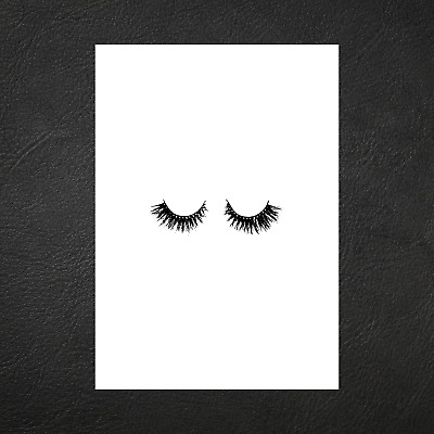 Coco Chanel Beauty Black Eyelashes Abstract Art Print Poster - A5 A4 A3