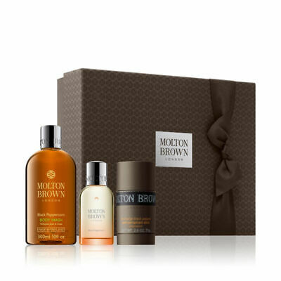 BNIB Molton Brown London Re-Charge Black Pepper Ultimate 3 Piece Men's Gift Set