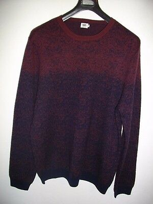 NEW * KIN by JOHN LEWIS * SOFT DOUBLE KNIT RED & NAVY BLUE JUMPER SIZ XL RRP £69